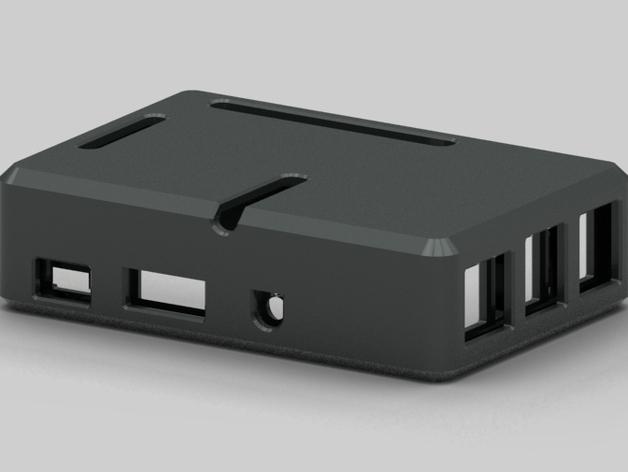 树莓派 B+ 外壳 3D打印模型渲染图