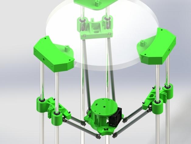deLtabot 3D 打印机 3D打印模型渲染图