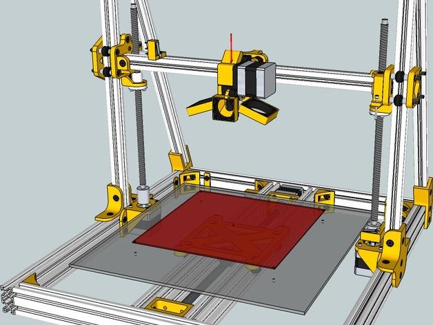 Lautr3k - A 3D 打印机 3D打印模型渲染图
