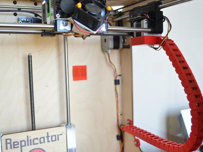 Replicator 打印机X轴锚链 3D打印模型渲染图