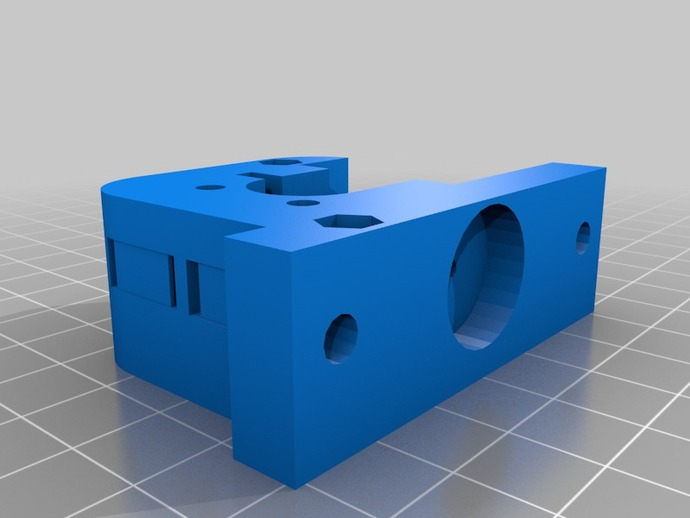 Kossel打印机的挤出机 3D打印模型渲染图