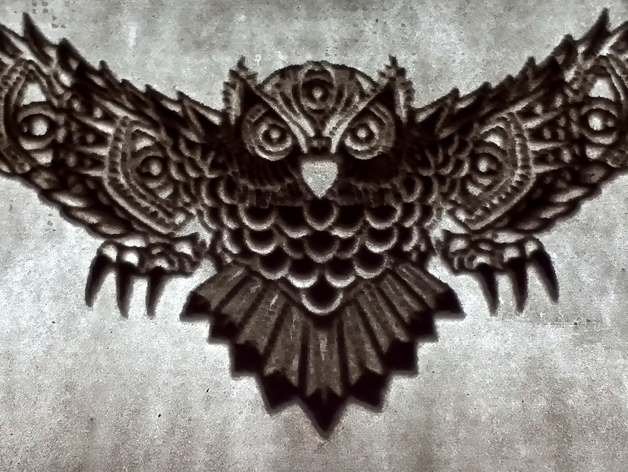 光刻 猫头鹰