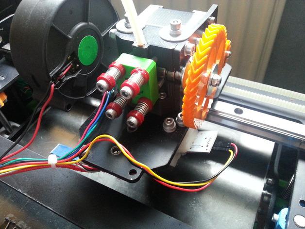 Orca挤出机齿轮组 3D打印模型渲染图