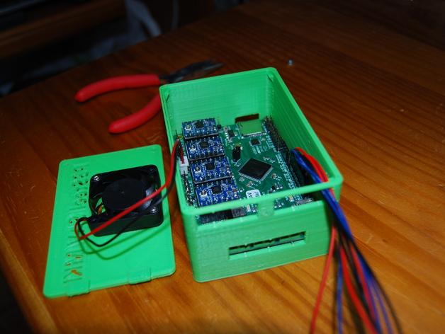 Prusa i3打印机 电路盒 3D打印模型渲染图