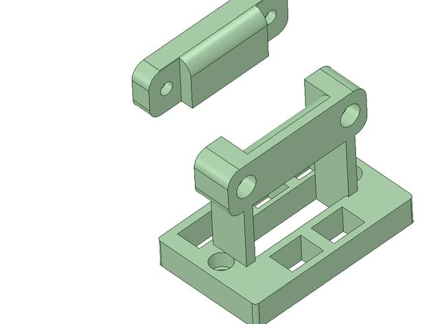 Rigidbot 电缆夹 3D打印模型渲染图