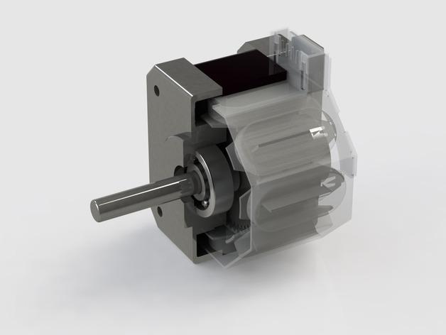 NEMA 17 步进电机滚珠轴承 3D打印模型渲染图