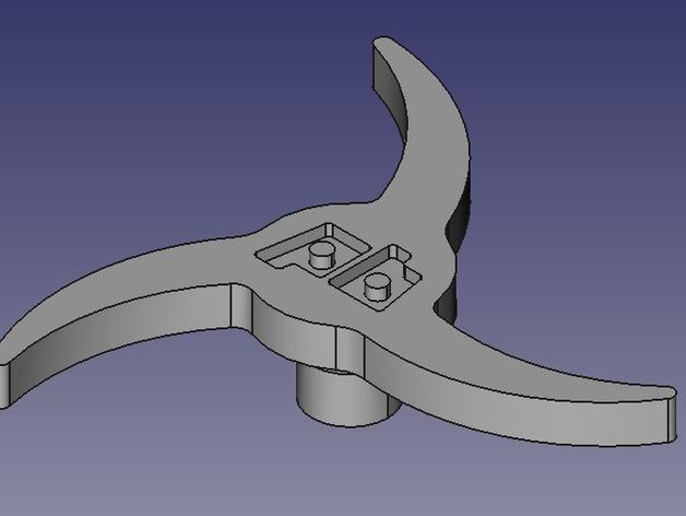 Printrbot 打印机进料轮 3D打印模型渲染图