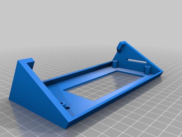 Kossel Mini打印机显示屏支架 3D打印模型渲染图