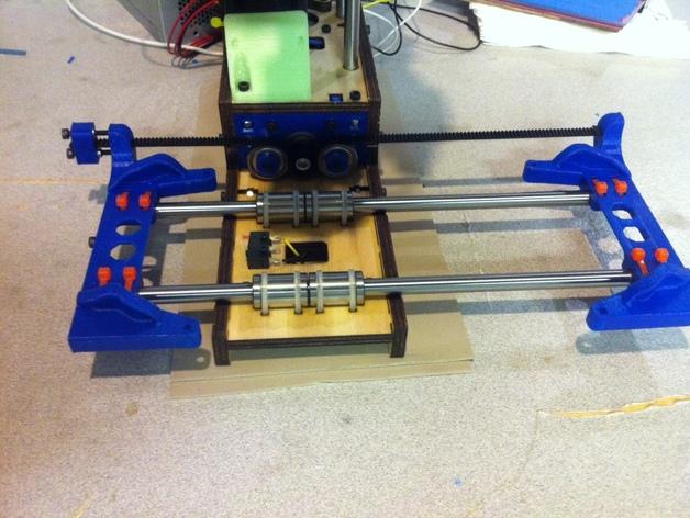 Printrbot打印机X轴部件 3D打印模型渲染图