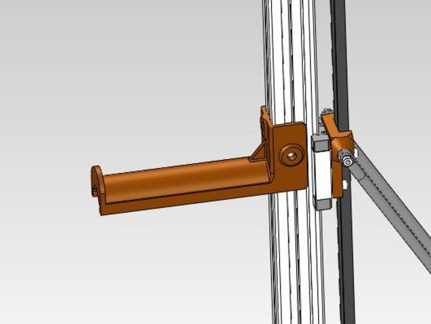 Kossel打印机线轴架 3D打印模型渲染图