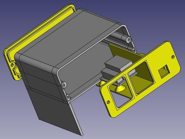 Octoprint/Raspberry Pi电源保护盒 3D打印模型渲染图