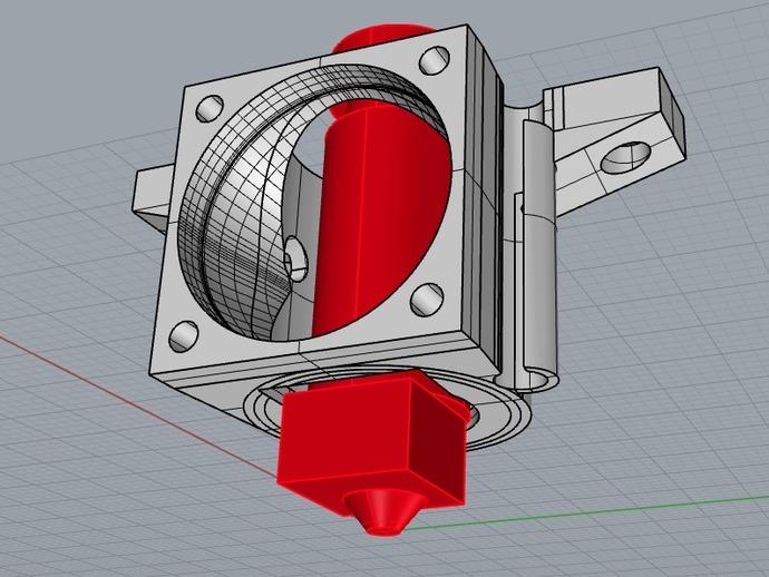 J形头风扇罩 3D打印模型渲染图