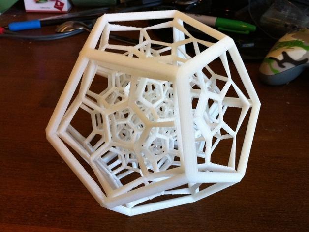 正一百二十胞体 3D打印模型渲染图