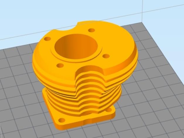 气缸盖 3D打印模型渲染图