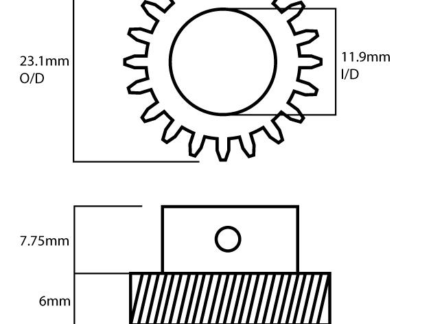 螺旋齿轮 斜齿轮 3D打印模型渲染图