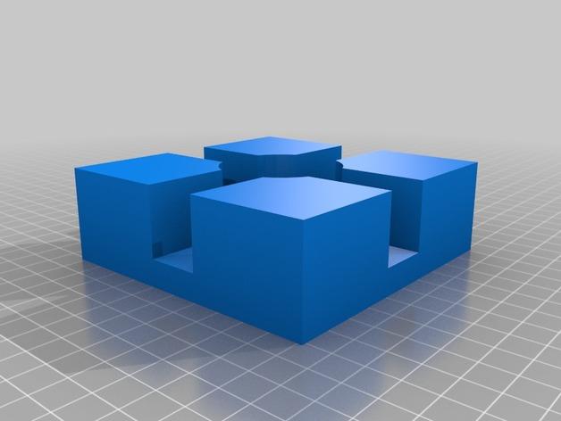 打印机边角固定器 3D打印模型渲染图