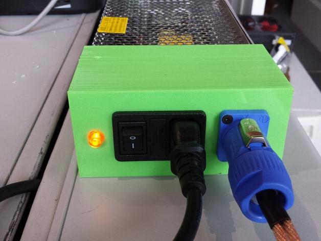 电源盒 保护外壳 3D打印模型渲染图