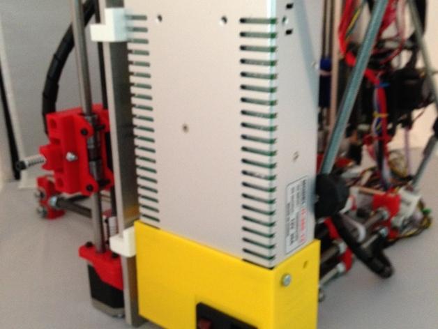 Prusa i3 打印机电源保护盒 3D打印模型渲染图