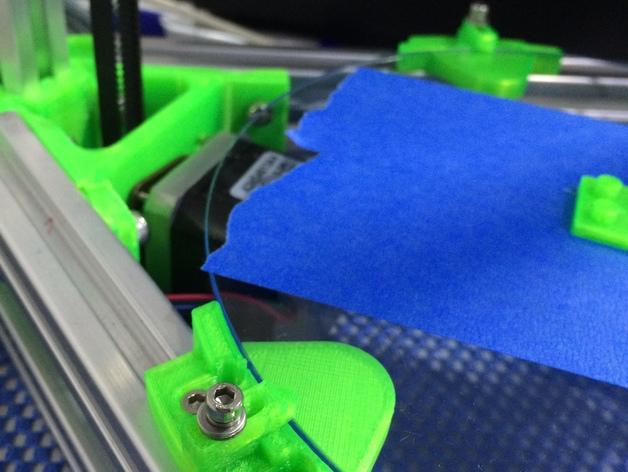 Mini Kossel 打印机玻璃板支架 3D打印模型渲染图