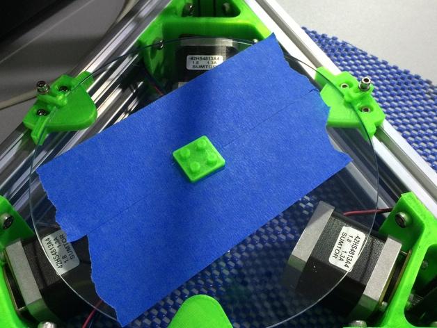 Mini Kossel 打印机玻璃板支架
