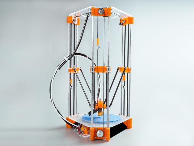 Rostock Mini Pro打印机外框 3D打印模型渲染图