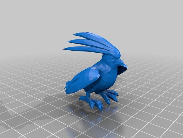 比比鸟 3D打印模型渲染图
