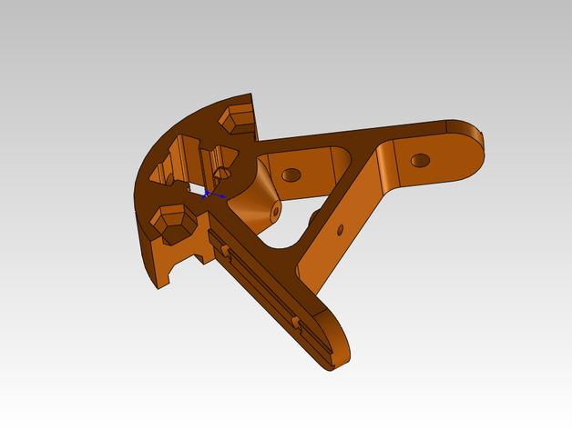 Kossel打印机外框固定器 3D打印模型渲染图