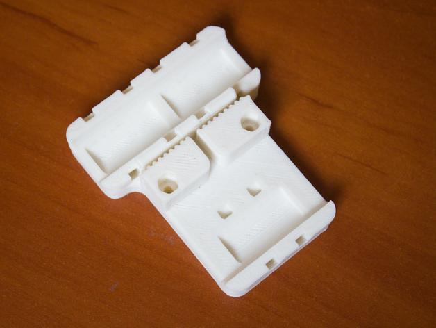 Prusa i3打印机X轴皮带固定器 3D打印模型渲染图