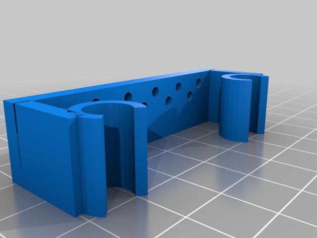 Prusa i3打印机限位开关固定器 3D打印模型渲染图