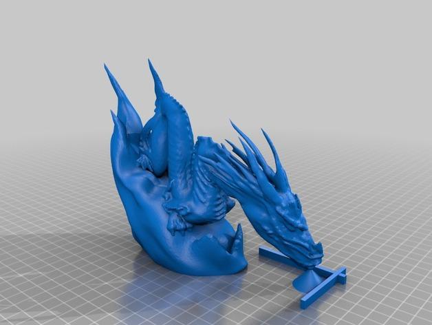 腾云驾雾的龙 3D打印模型渲染图