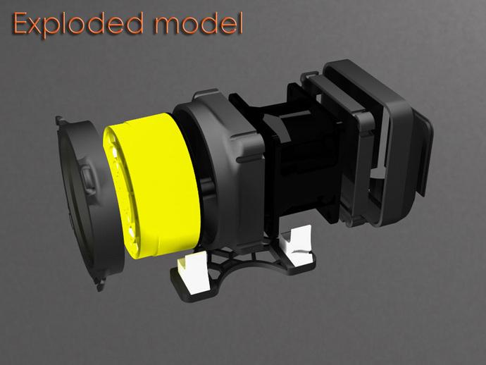 replicator 2/2X打印机排气式挤出机