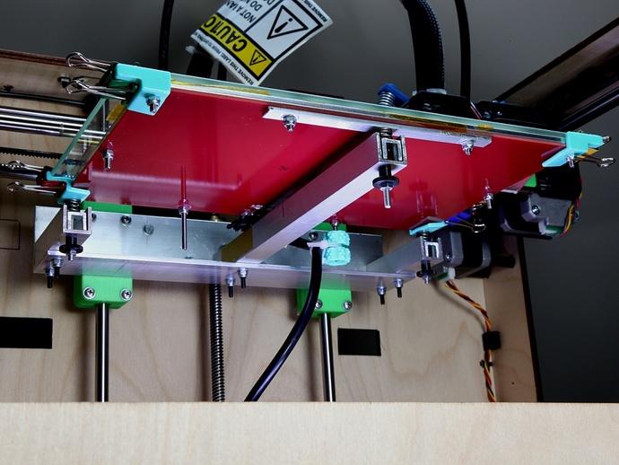 Makerbot Replicator打印机打印床支撑架 3D打印模型渲染图
