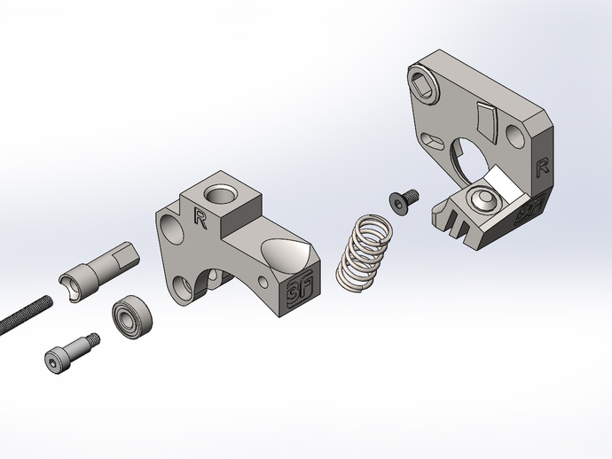 Replicator 2X挤出机 3D打印模型渲染图