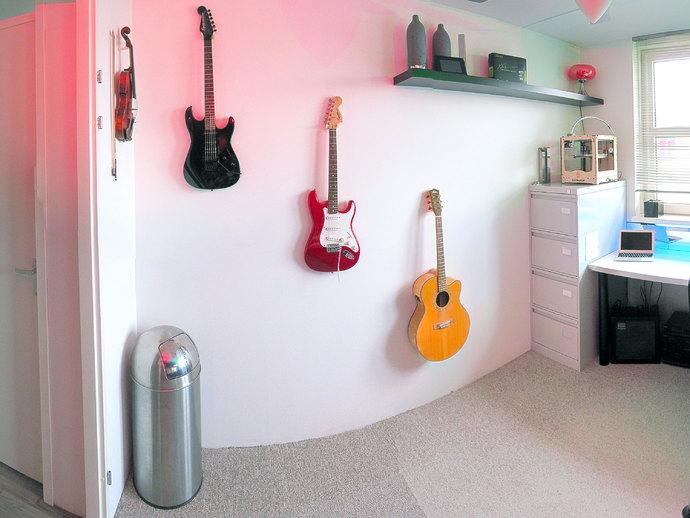 壁挂式吉他支架