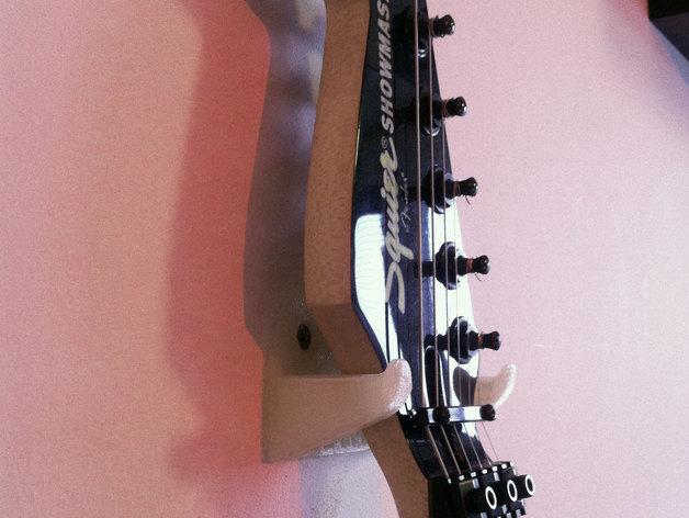 壁挂式吉他支架 3D打印模型渲染图