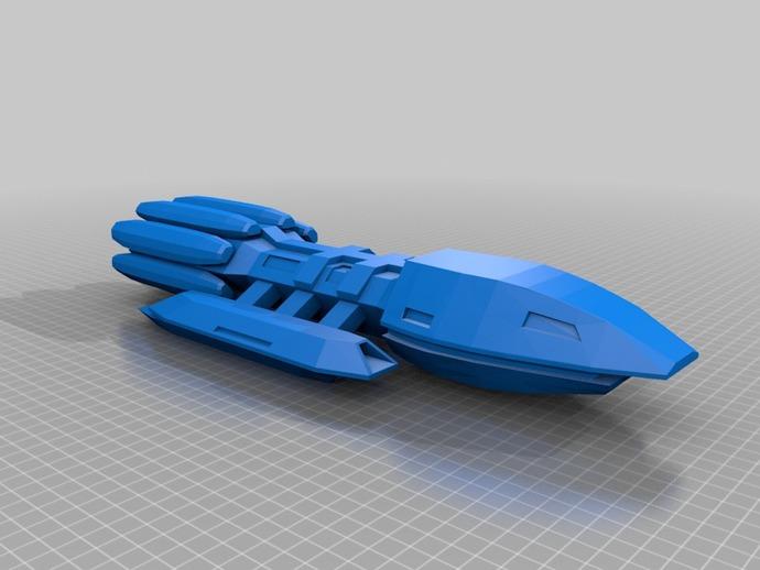 战舰 星际战舰 3D打印模型渲染图