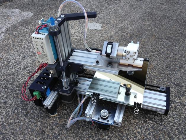 垂直3D打印机 3D打印模型渲染图