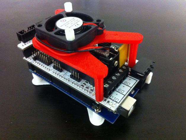风扇架  风扇座 3D打印模型渲染图