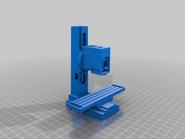 3D打印铣床 3D打印模型渲染图