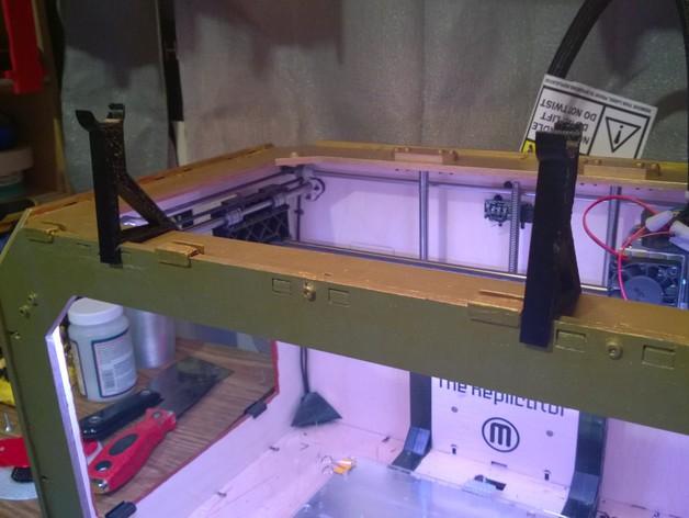 小型线轴卷支架 3D打印模型渲染图