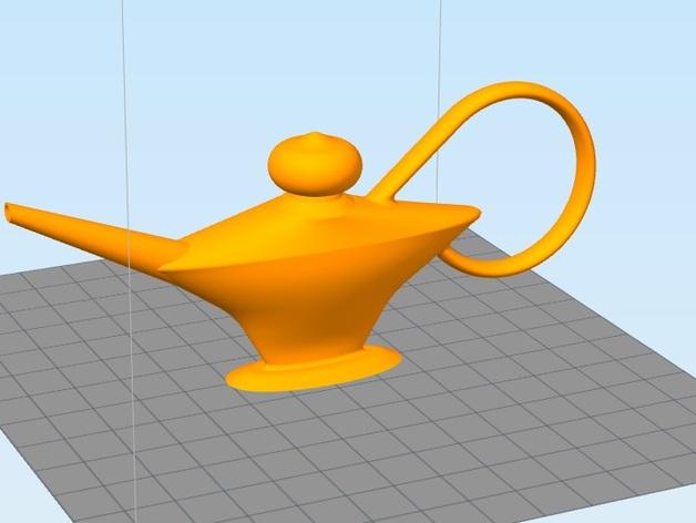 阿拉丁神灯 3D打印模型渲染图