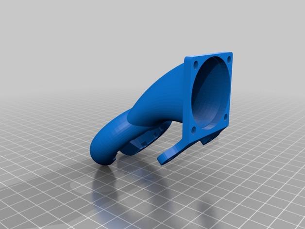 风扇导管 通风导管 3D打印模型渲染图