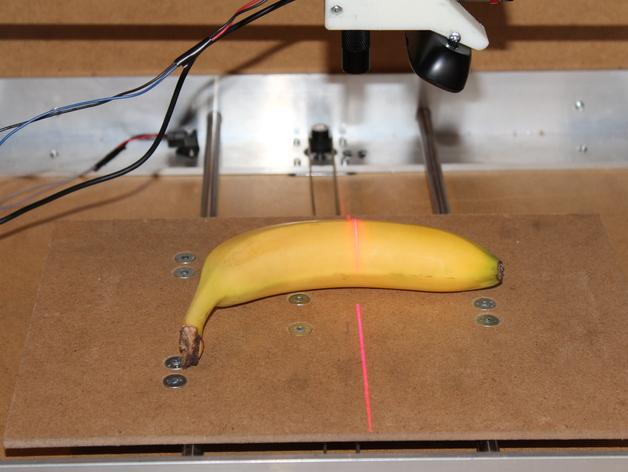 扫描仪支架 3D打印模型渲染图