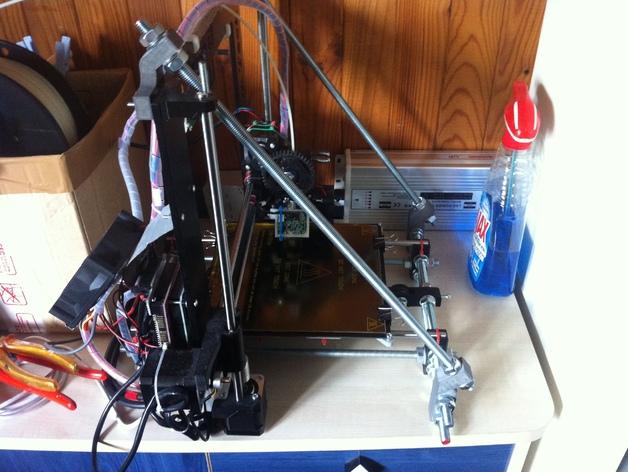 Prusa i3打印机Z轴固定套件 3D打印模型渲染图