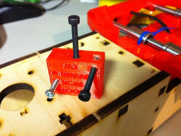 螺丝钉孔测试 3D打印模型渲染图