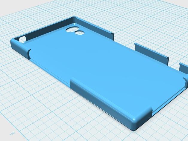 Sony Xperia Z保护壳 3D打印模型渲染图