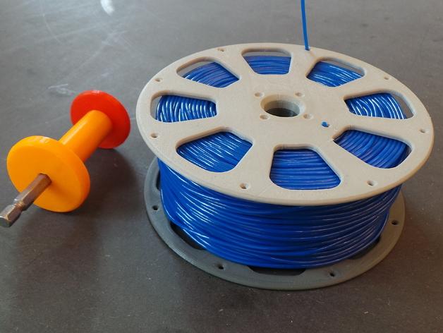 线材轴 线轴 3D打印模型渲染图