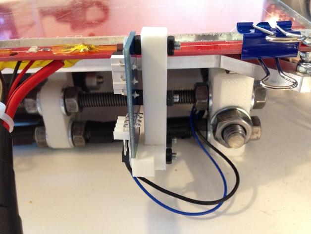 打印机Y轴限位开关支架 3D打印模型渲染图