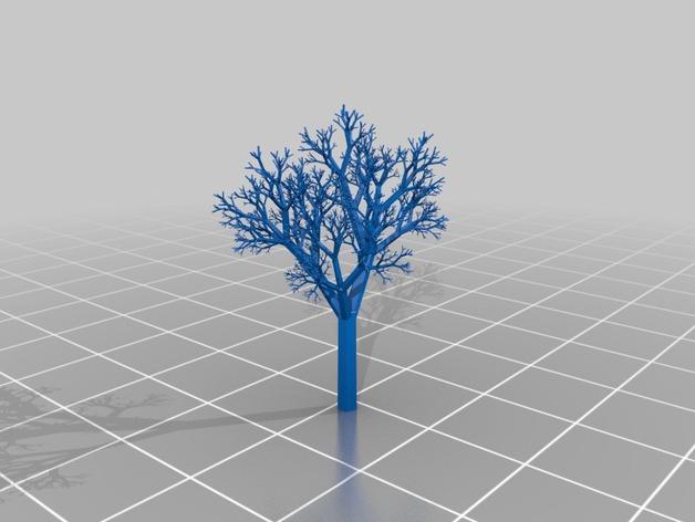 一棵树 3D打印模型渲染图