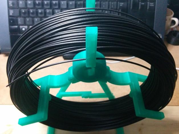 折叠式线轴支架 3D打印模型渲染图